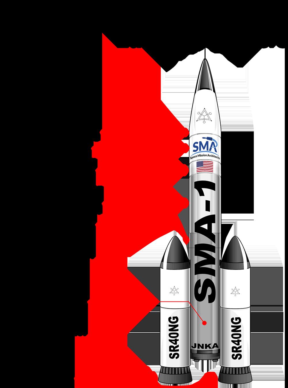 SMA1 Rocket drawing